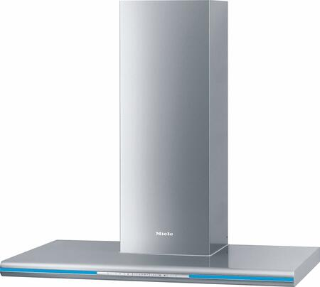 "Miele DA6296 36"" D cor Lumen Chimney Hood with 625 CFM Blower, 10-ply Stainless Steel Grease Filters, Intensive Mode, and LED Lighting, in Stainless Steel"