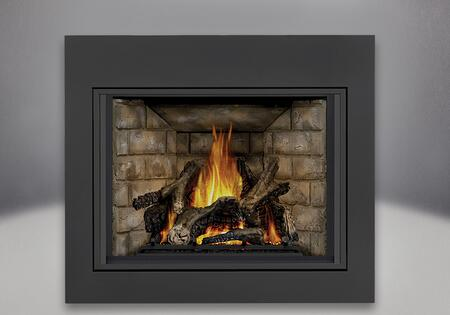 "Napoleon Ascent X 70 GX70XTE 35"" Direct Vent Fireplace with Clean Face Builder, 35,000 BTU's, Adjustable Flame and Heat Control and PHAZERAMIC Technology in Black"