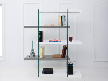 Casabianca CB111WGBKS Il Vetro Series Wood 3-4 Shelves Bookcase