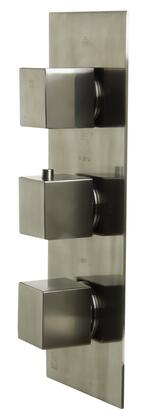 Alfi AB2901-XX Concealed 4-Way Thermostatic Valve Shower Mixer with, Square Knobs, Brass, A Sleek Appearance, UPC Certification, User-Friendly Installation and Valve/Mixer Piece in