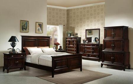 Accent HC875405BED Lancaster Series  California King Size Panel Bed