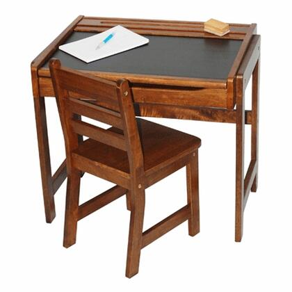 Lipper Kids 554X Desk with Chalkboard Top and Chair