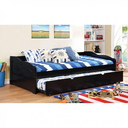 Furniture of America Sunset Collection Twin Size Daybed with Trundle Included, Casters, Slat Kit Included, Solid Wood and Wood Veneers Construction