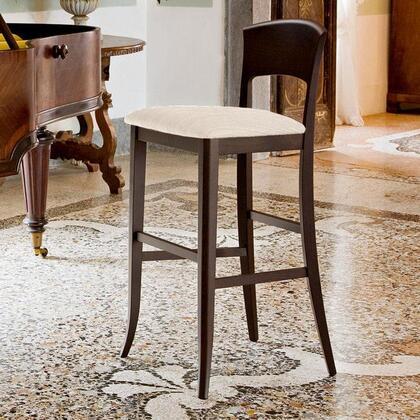 Domitalia GIUSYAWES7W Giusy Series Fabric Upholstered Bar Stool