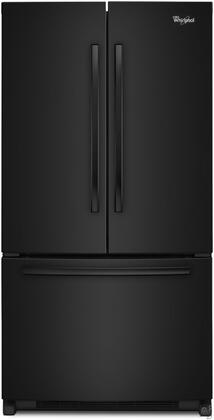 "Whirlpool WRF540CWBB 36"" Counter Depth French Door Refrigerator with 20 cu. ft. Capacity in Black"