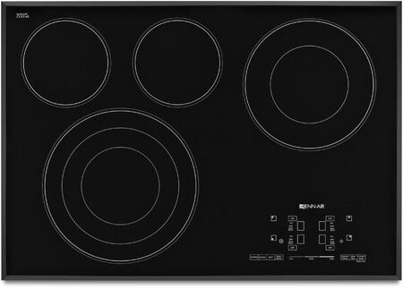 "Jenn-Air JEC4430BT 30"" Electric Cooktop with 4 Elements, Elegant Beveled Edge, Black Floating Glass Design, Hot Surface Indicators, in"