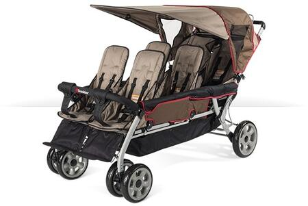 "Foundations LX Collection 4160XXX 72"" 6-Passenger Stroller with Side-by-side Design, Extra Wide Seating, Effortless Push and Heavy Duty Fabric Cover"