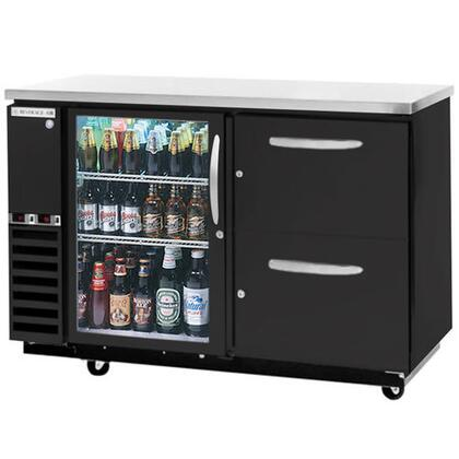 Beverage-Air DZD58G-1 Beverage-Air Dual-Zone Solid Door Direct Draw with two independent compartments to allow separate temperatures, glass door on left, with two solid wine drawers on right, in
