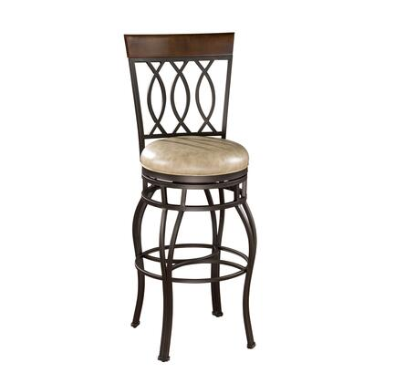 American Heritage 130714PPL192 Bella Series Residential Leather Upholstered Bar Stool