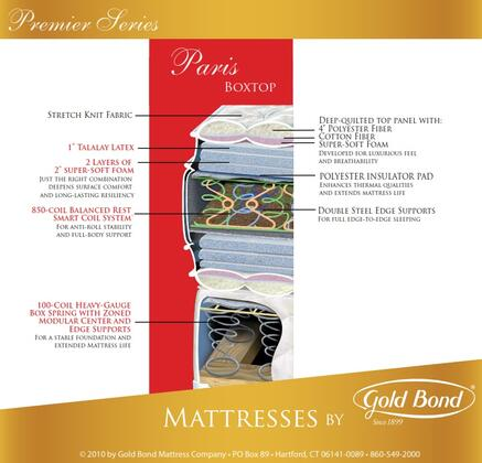 Gold Bond 522PARISSETK Premiere King Mattresses