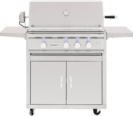Summerset Grills CART-TRL TRL Series Freestanding Grill Cart for x Grill, in Stainless Steel