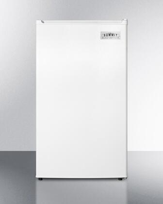 """Summit FF412ES 19"""" Energy Star Compact Refrigerator with 3.6 cu. ft. Capacity, Adjustable Thermostat, Crisper Drawer, Chiller Compartment and Automatic Defrost, in"""