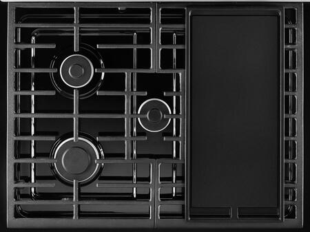 "Whirlpool WFG505M0B 30"" Freestanding Gas Range with 5 Sealed Burners, 5.1 cu. ft. Oven, Continuous Grates, Electronic Controls, Custom Broil, and Two 15,000 BTU Power Burners in"
