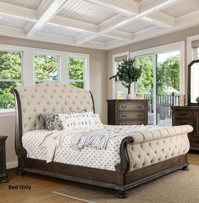 Furniture of America CM7663CKBED Lysandra Series  California King Size Sleigh Bed