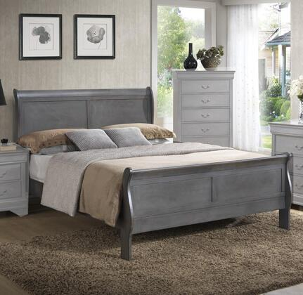 Myco Furniture Louis Philippe Queen Size Bed LP301Q Grey ...