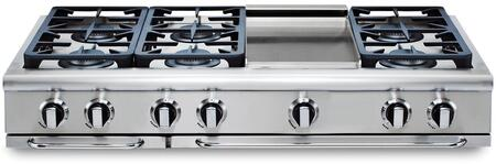 """Capital GRT486GN 48"""" PRECISION Series Natural Gas Sealed Burner Style Cooktop"""