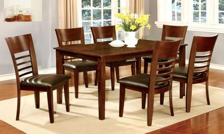 Furniture Of America Cm3916t6sc Hillsview I Dining Room Sets Appliances Connection