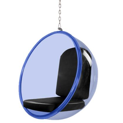 Fine Mod Imports FMI10152 Bubble Hanging Chair Blue Acrylic