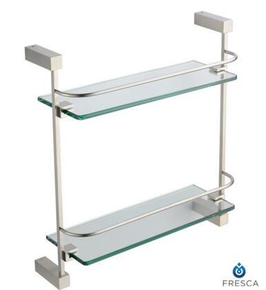 Fresca FAC0446 Ottimo 2 Tier Glass Shelf with Heavy Duty Brass Construction in