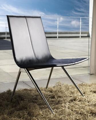 Modloft CDS094ASC5 Mayfair Series Modern Leather Metal Frame Dining Room Chair