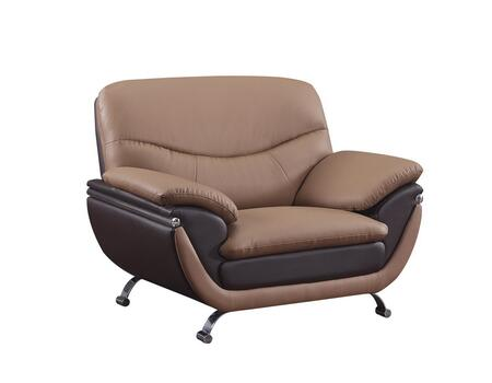 Global Furniture USA U2106RVCH Bonded with Metal Frame in Brown