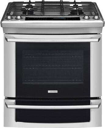 "Electrolux EI30GS55JS 30"" IQ-Touch Series Slide-in Gas Range with Sealed Burner Cooktop Warming 4.2 cu. ft. Primary Oven Capacity"