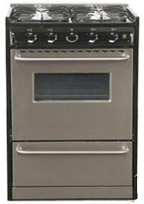 Summit TLM230R  Slide-in Gas Range with Sealed Burner Cooktop, 3.69 cu. ft. Primary Oven Capacity, Broiler in Stainless Steel