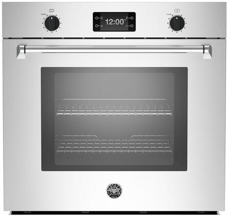 """Bertazzoni MASFS30Xx 30"""" Master Series 4.1 cu. ft. Total Capacity Electric Single Wall Oven with Top Broiler, 2 Oven Racks, Convection, Sabbath Mode, in Stainless Steel"""
