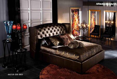 VIG Furniture VGUNAA218-200 Royal Transitional Golden Tufted Leatherette Platform Bed