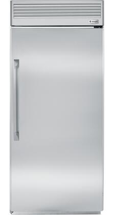 """GE Monogram ZIFP360NX 36"""" Built-In All Freezer with 21.5 cu. ft. Capacity, Concealed Halogen Lighting System, Ice Drawer and Water Filtration System in Stainless Steel"""