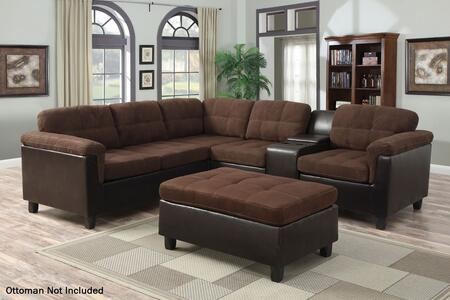 Acme Furniture 51660 Cleavon Series Stationary Bycast Leather Sofa