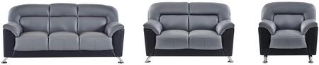 Global Furniture U9102DGRBLSOFALC U9102 Living Room Sets