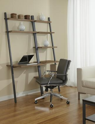 Unique Furniture B3071D63-XXX Leaning Ladder Peninsula Desk