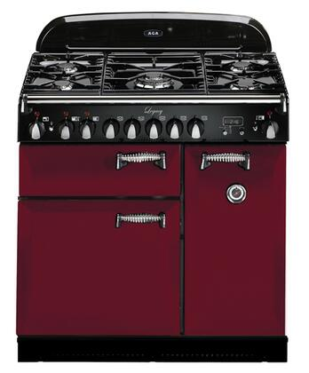 "AGA ALEG36DFCRN 36"" Legacy Series Dual Fuel Freestanding Range with Sealed Burner Cooktop, 2.2 cu. ft. Primary Oven Capacity,"