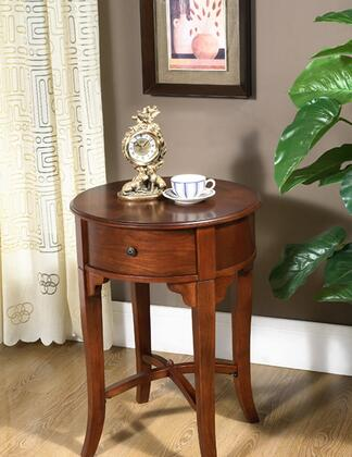 All Things Cedar HR30 Classic Accents Series Traditional Round 1 Drawers End Table