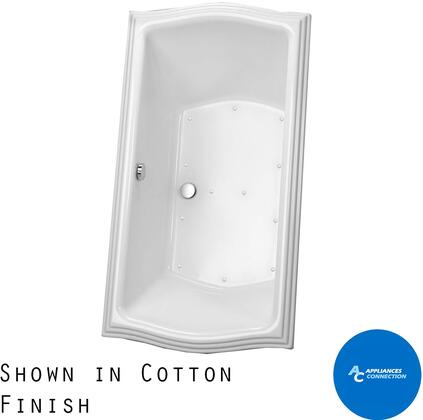 Toto ABR78901N Clayton Series Drop-In Airbath Tub with Acrylic Construction and Slip-Resistant Surface, Cotton Finish
