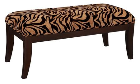 Coast to Coast 14015 Accent  Rustic Tiger Print Bench