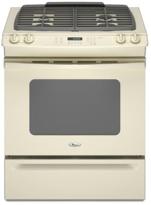 "Whirlpool Gold Series GW397LXU 30"" Slide-In Gas Range With 4 Sealed Burners, 4.5 Cu. Ft. Capacity, Self-Cleaning Oven, Storage Drawer, 120 Volts, 15 Amps, In"