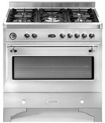 Fratelli Onofri FRRYC905SSCH Royal Chiantishire Series Dual Fuel Freestanding Range with Sealed Burner Cooktop, 4.4 cu. ft. Primary Oven Capacity, in Stainless Steel