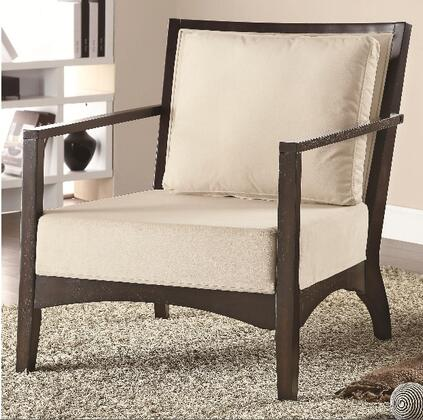 Coaster 902072 Accent Seating Series Fabric Wood Frame Accent Chair