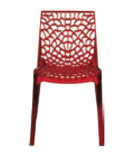 VIG Furniture VGIGGRUVYERREDTRANS Modrest Gruvyer Series Modern Not Upholstered Polyblend Frame Dining Room Chair