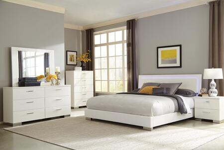 Coaster Felicity 5 Piece California King Size Bedroom Set