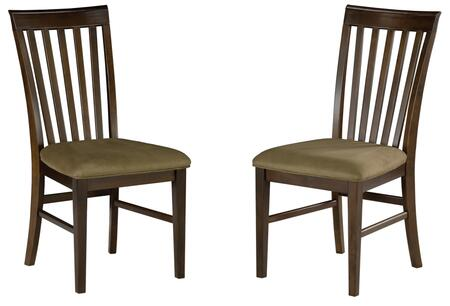Atlantic Furniture MISSIONDCCC Mission Collection Set of 2 Dining Chairs with Cappuccino Seat Cushions: