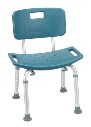 Drive Medical 12202KDRX-1 Bathroom Safety Shower Tub Bench Chair with Back in