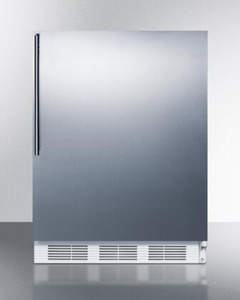 "AccuCold ALF620SSHVX 24"" ADA Compliant Freestanding Medical All-Freezer with 3.2 cu. ft. Capacity, Manual Defrost, 3 Drawer Bins, and Adjustable Thermostat: Stainless Steel"