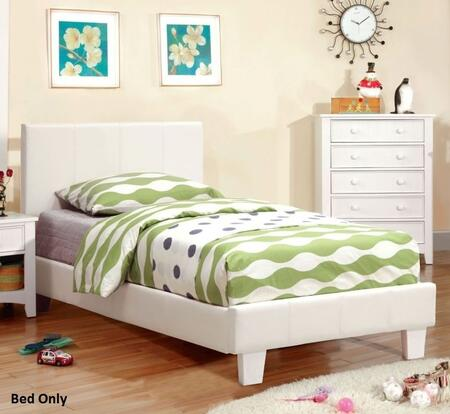 Furniture of America CM7008WHTBED Winn Park Series  Twin Size Bed