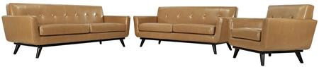 Modway EEI1764TANSET Leather Living Room Set