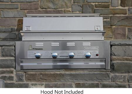 """Lazy Man LM21040 40"""" Masterpiece Series Built-In Gas Grill with 4 Stainless Steel Burners, 48000 BTU Total Heat Output, 304 Stainless Steel Construction, and 540 sq. inches Cooking Surface, in Stainless Steel"""