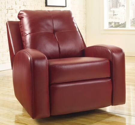 Signature Design by Ashley Mannix DuraBlend 2140X61 Swivel Glider Recliner with Curved Track Arms, Stitching Details, Soft Tufted Back Cushion and Metal Drop-In Unitized Seat Box in