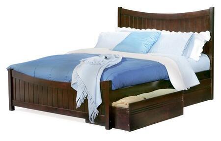 Atlantic Furniture MANHATTANMFQUEENAW Manhattan Series  Queen Size Bed